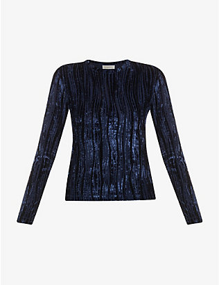 STINE GOYA: Maya striped velvet top