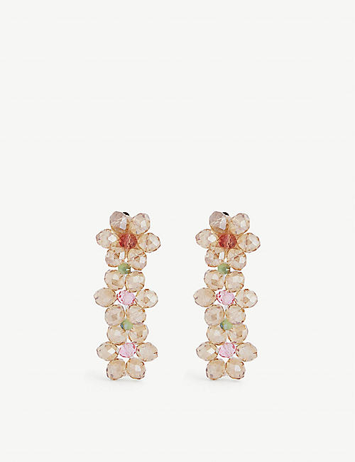 STINE GOYA: Tiscar glass-bead stud earrings