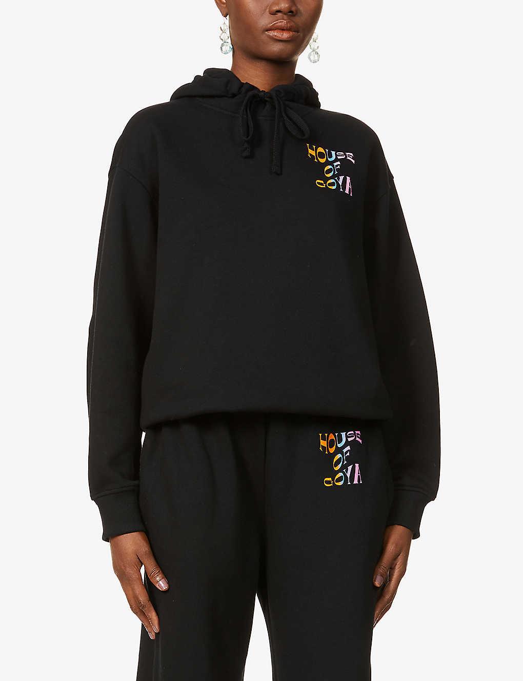 Adrisa logo-print organic cotton-jersey hoody