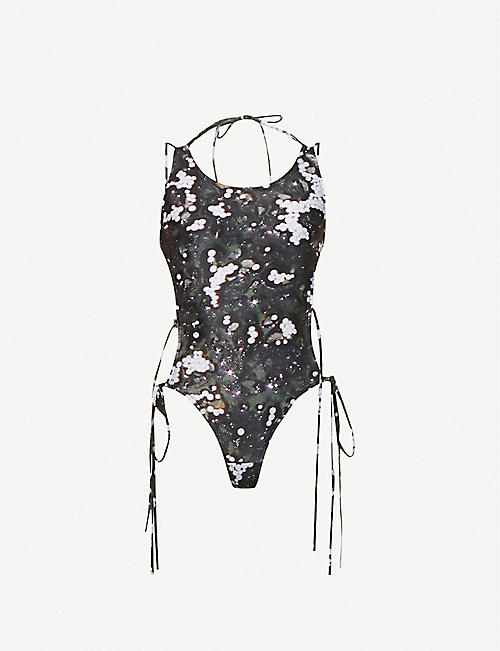 CHARLOTTE KNOWLES: Harley graphic-pattern swimsuit