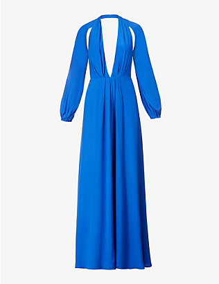 CULT GAIA: Hera cut-out crepe gown