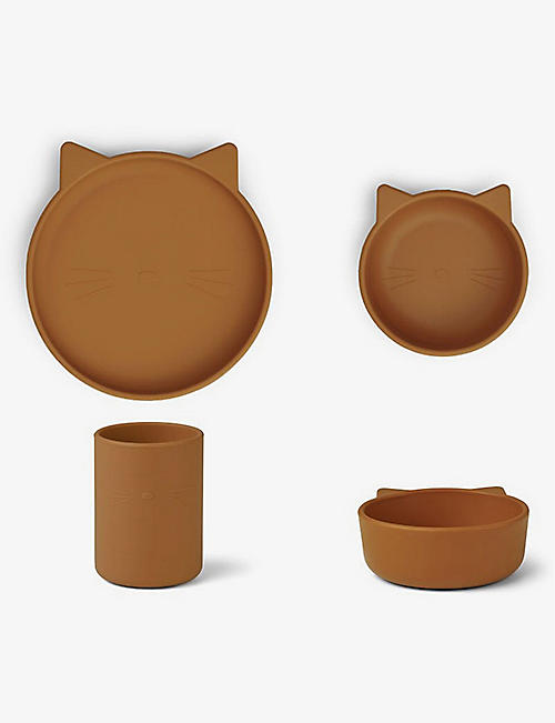 LIEWOOD: Cyrus animal shape silicone tableware set of three