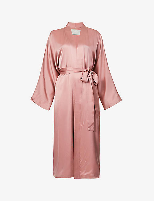 ASCENO: Athens belted silk robe