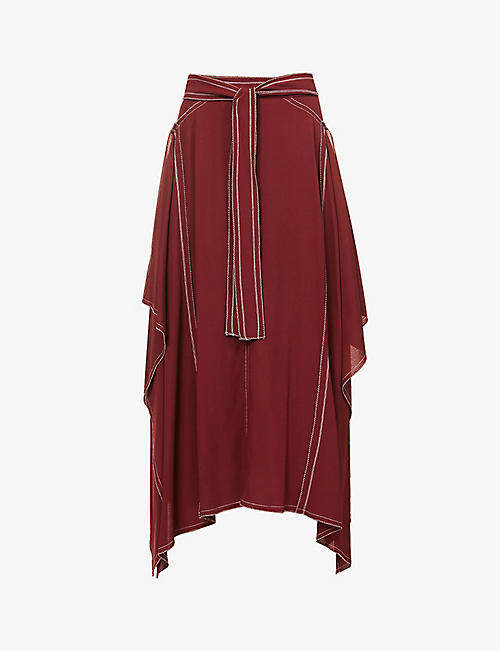 STELLA MCCARTNEY: Norah high-waist crepe midi skirt