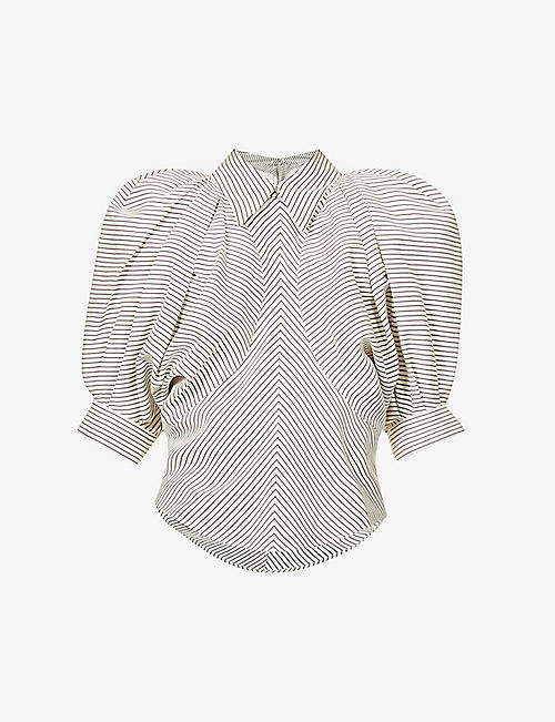 ISABEL MARANT: Eori loose-fit striped silk top