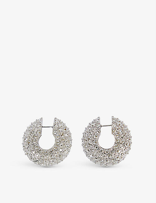 FENTY: Moon Rocks silver-plated brass hoop earrings