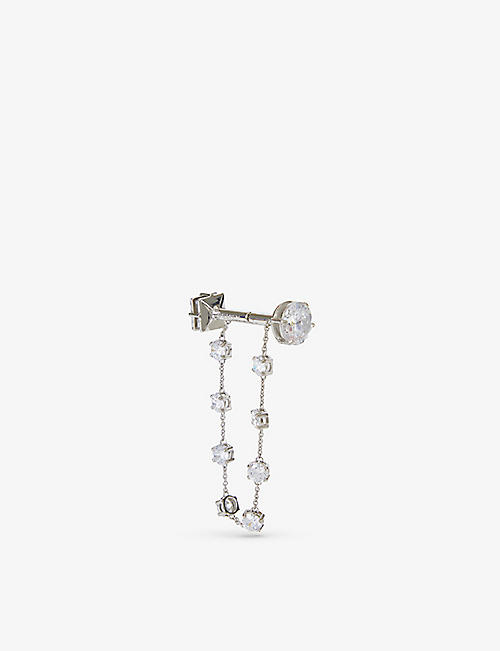 FENTY: Dumbbell silver-plated brass and crystal earring