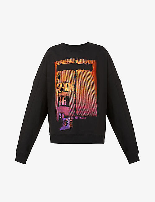 FENTY: Graphic-print cotton-jersey sweatshirt