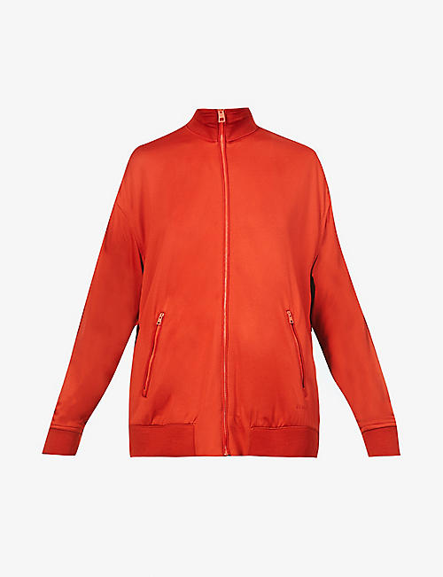 FENTY: High-neck jersey tracksuit jacket