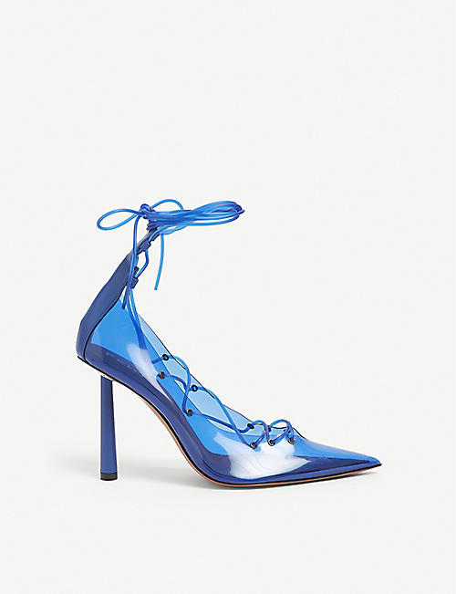 FENTY: Tie Me Up lace-up PVC and leather courts