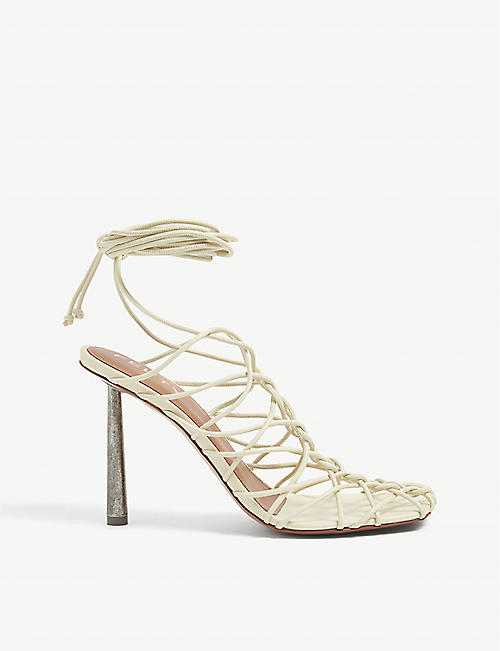 FENTY: Caged In lace-up leather sandals