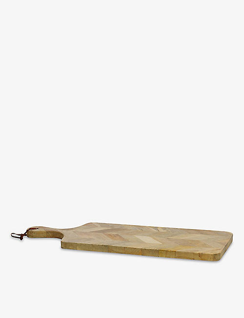 NKUKU: Niju large mango wood chopping board 58cm x 38cm