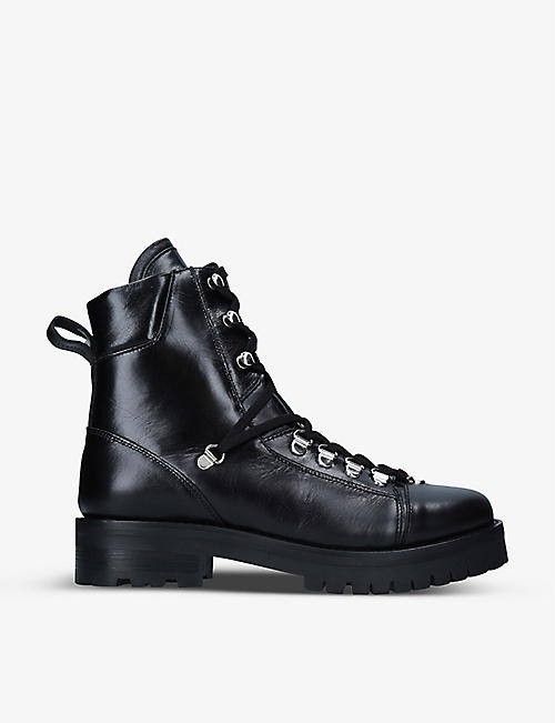 ALLSAINTS: Franka lace-up leather ankle boots