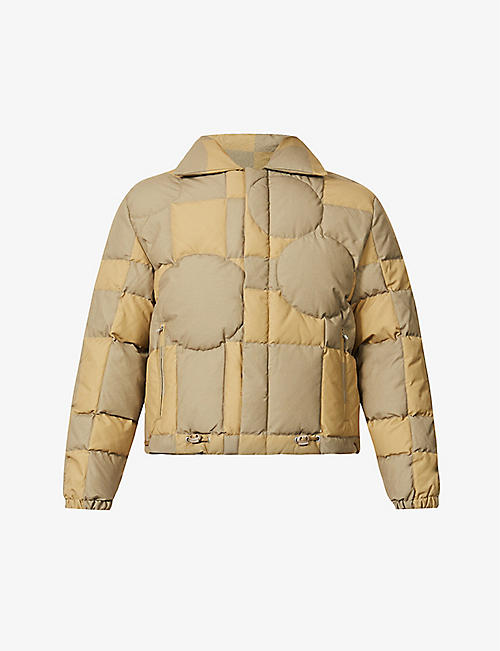 ERL: Padded drawstring-hem cotton-canvas bomber jacket