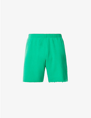 ERL: Relaxed-fit frayed-hem cotton-blend shorts