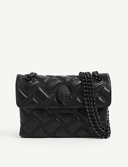 KURT GEIGER LONDON: Kensington mini quilted leather shoulder bag