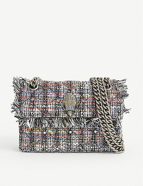 KURT GEIGER LONDON: Kensington recycled tweed cross-body bag