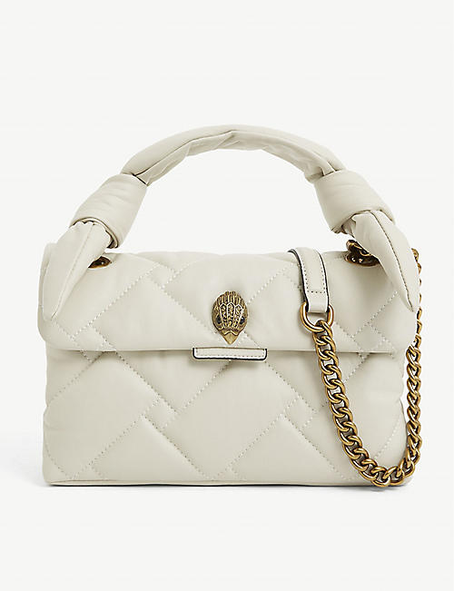 KURT GEIGER LONDON: Kensington quilted leather shoulder bag