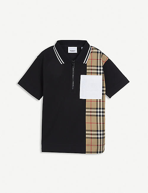 BURBERRY: Matthew cotton polo shirt 3-14 years