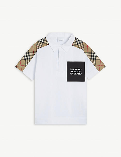 BURBERRY: Johnathon cotton polo shirt 3-14 years
