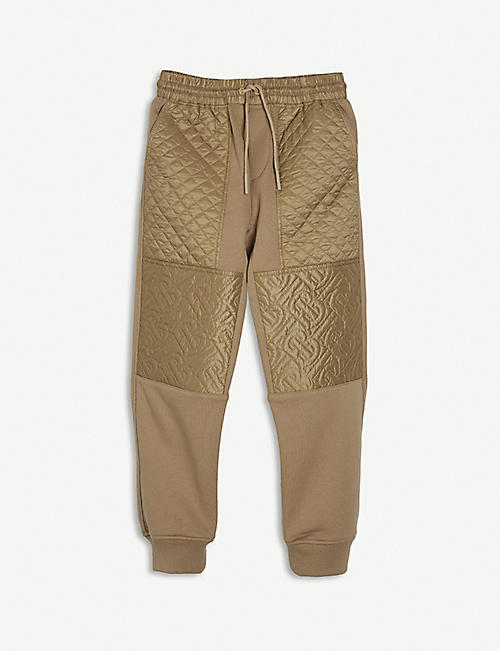BURBERRY: Timothie cotton jogging bottoms 4-14 years