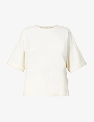 THE ODDER SIDE: Lena oversized organic-cotton T-shirt