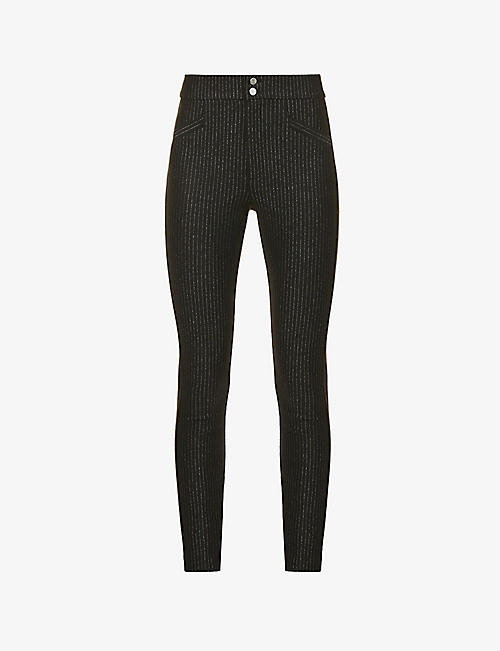PAIGE: Arella striped skinny high-rise stretch-woven trousers