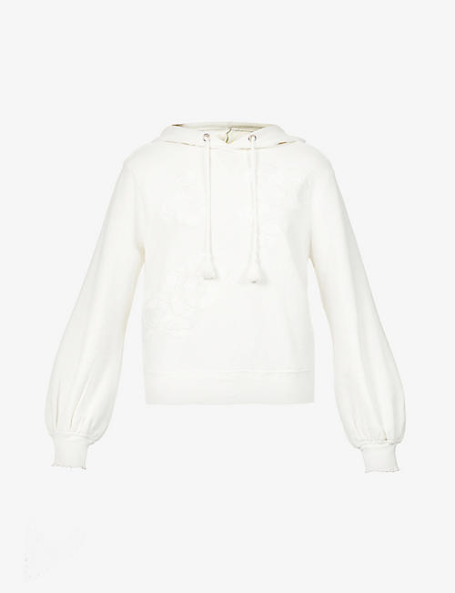 PAIGE: Leighton cotton-jersey hoody