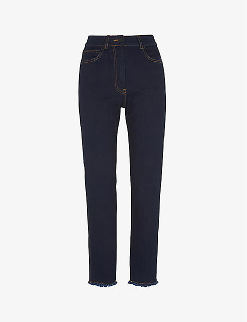 WHISTLES: Slim-fit stretch-denim jeans