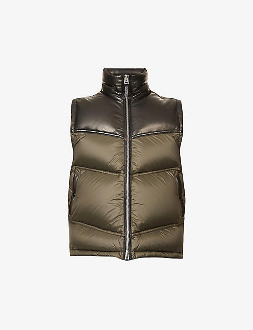 TOM FORD: Funnel-neck shell-down gilet