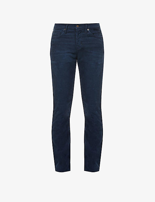 TOM FORD: Brand-patch slim stretch-cotton corduroy trousers
