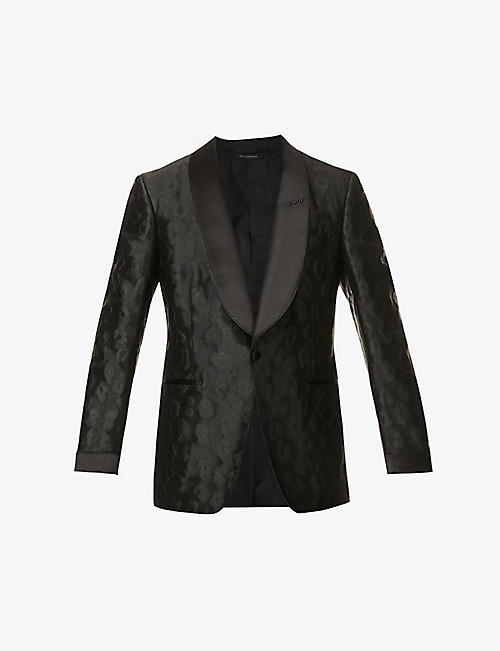 TOM FORD: Single-breasted regular-fit woven-blend jacket