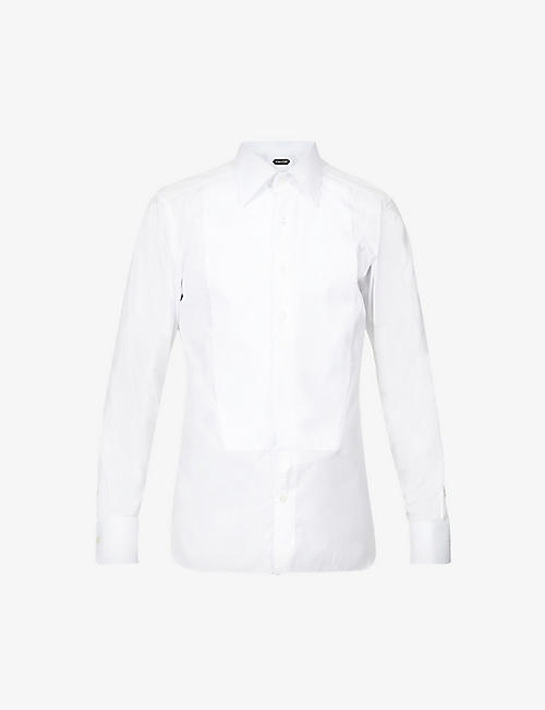TOM FORD: Slim-fit cotton-shirt