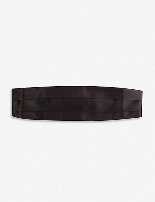 TOM FORD: Cut-out lined silk-satin cummberbund