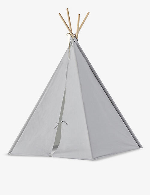 KIDS CONCEPT: Tipi cotton and wood tent 160cm