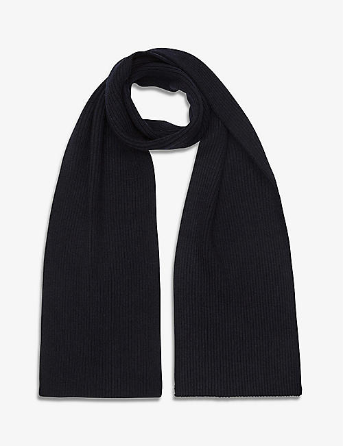 REISS: Raffterty ribbed scarf