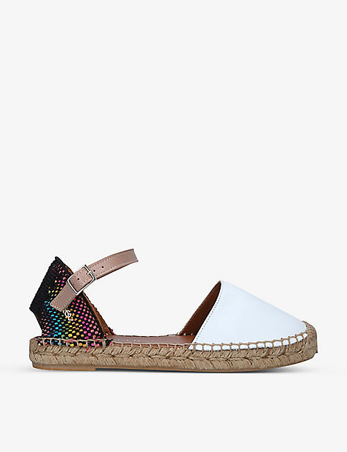 KURT GEIGER LONDON: Manty Rainbow espadrille sandals