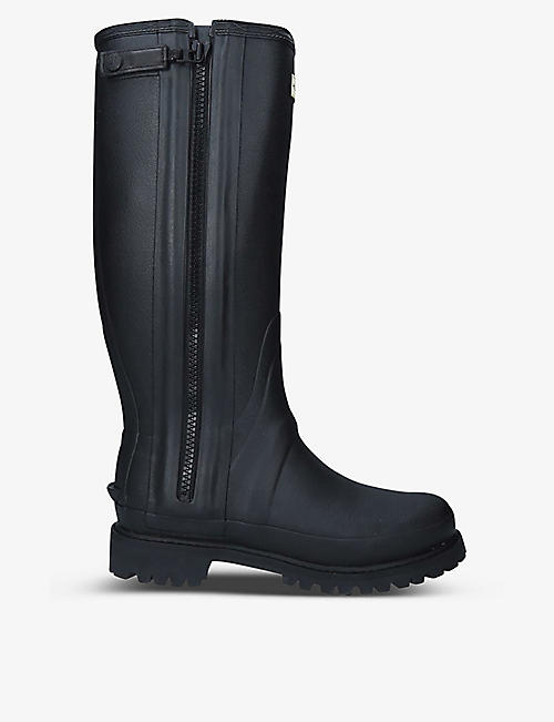 HUNTER: Balmoral Full Zip rubber boots