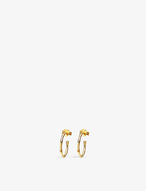 MISSOMA: Small Molten 18ct gold-plated vermeil sterling silver hoop earrings