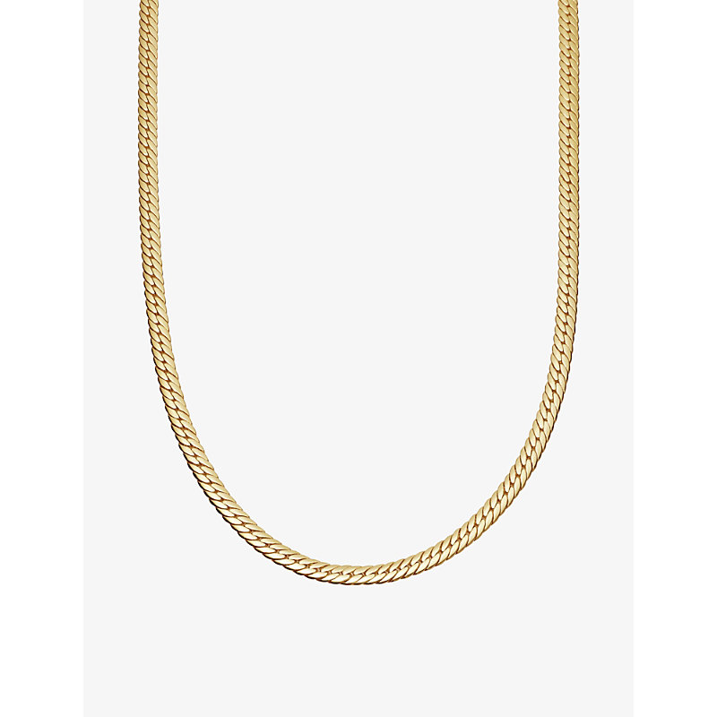 Camail 18ct gold-plated snake chain necklace