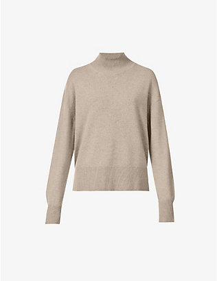 SAMSOE SAMSOE: Amaris relaxed-fit funnel-neck wool jumper