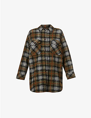SAMSOE SAMSOE: Galatea checked relaxed-fit woven overshirt