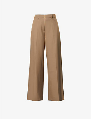 SAMSOE SAMSOE: Zepherine wide relaxed-fit woven trousers