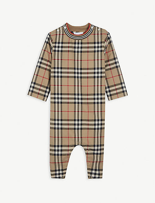 BURBERRY: Michael cotton baby-grow 1-18 months