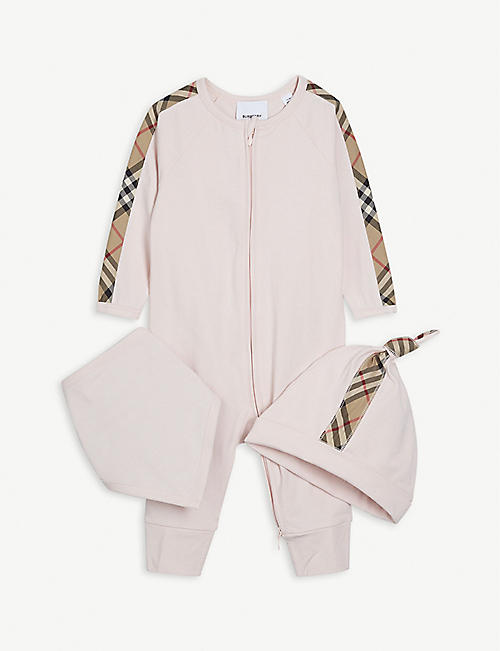 BURBERRY: Claude cotton baby set 1-18 months