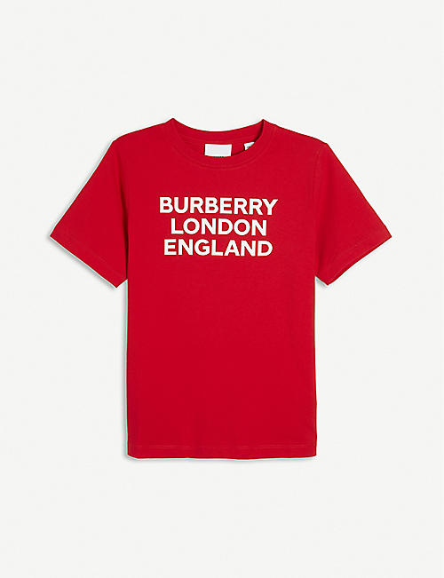 BURBERRY: Logo-print crewneck cotton-jersey T-shirt 4-14 years