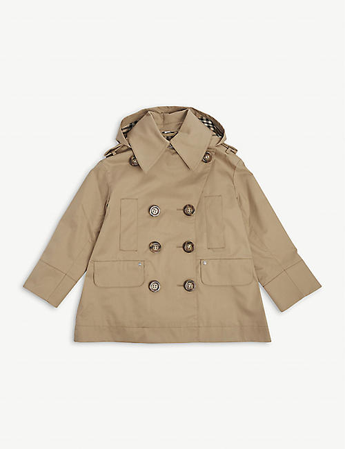 BURBERRY: Merel cotton trench coat 4-14 years