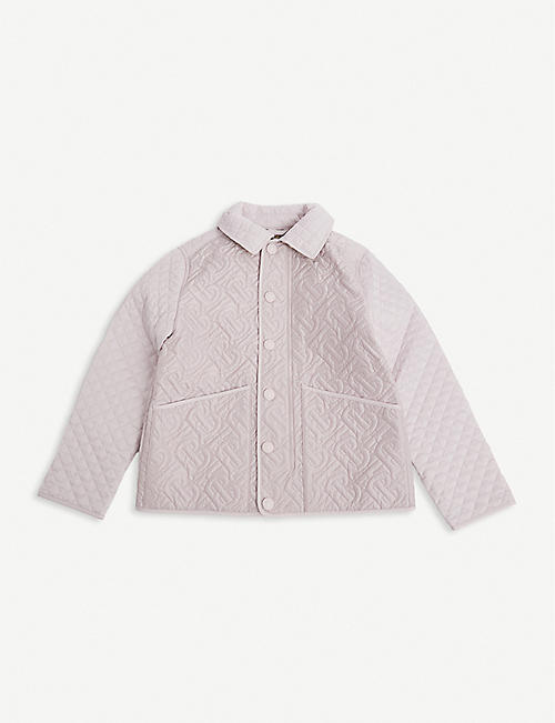 BURBERRY: Giaden quilted satin jacket 3-14 years