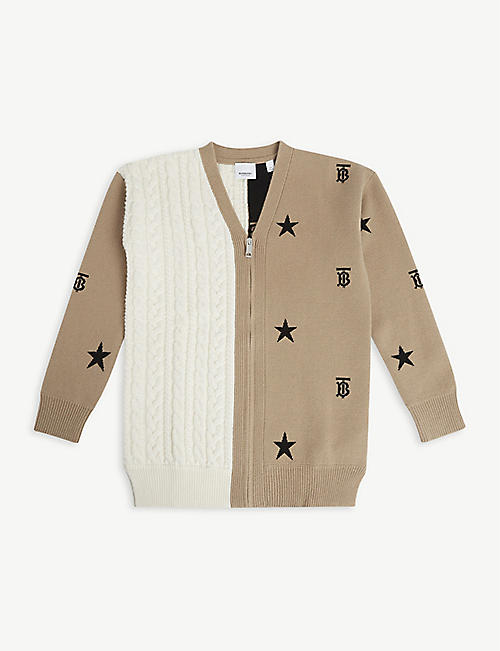 BURBERRY: Kalsie wool-cashmere cardigan 12-14 years