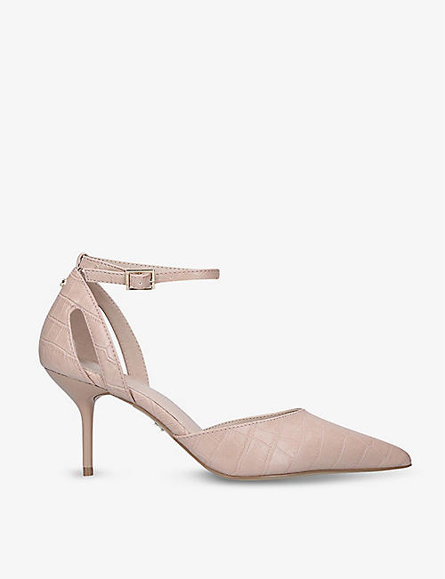 CARVELA: Kilo croc-embossed faux-leather courts